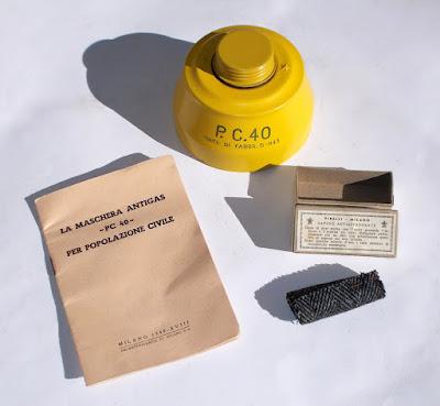 Maschera antigas del 1941 - collezionismo - militaria - annunci