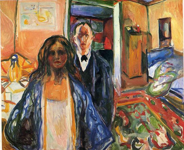 Эдвард Мунк - Художник и его модель. 1921