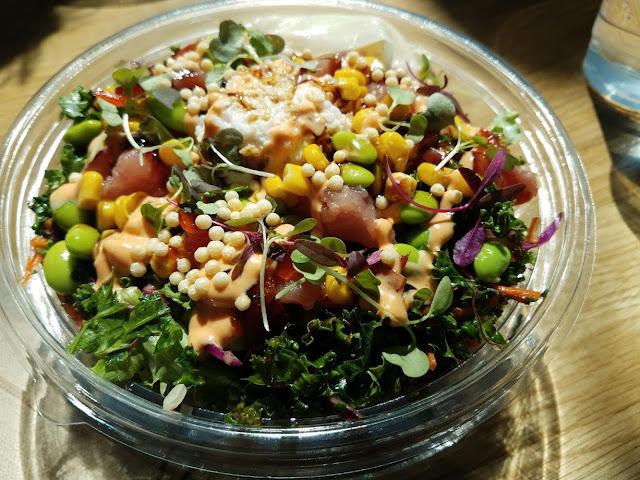 Tuna Poke Bowl at Bul Box inside Transfer Food Hall
