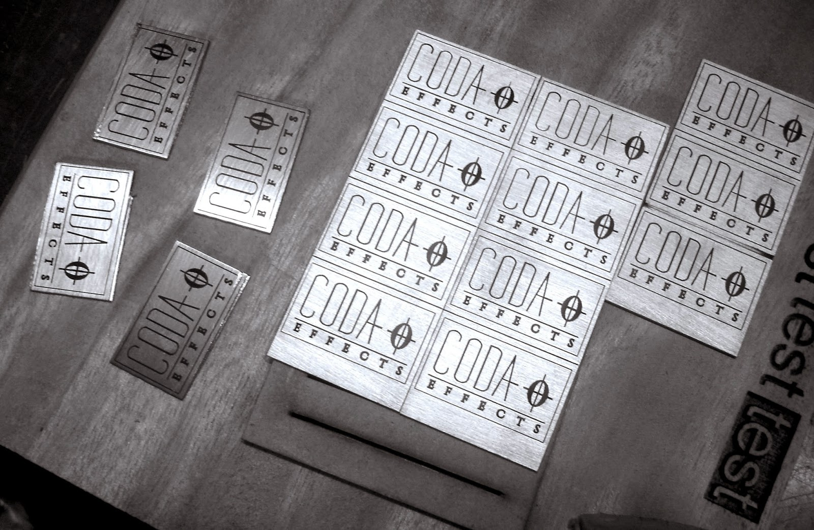 Coda Effects Laser Engraved Plates