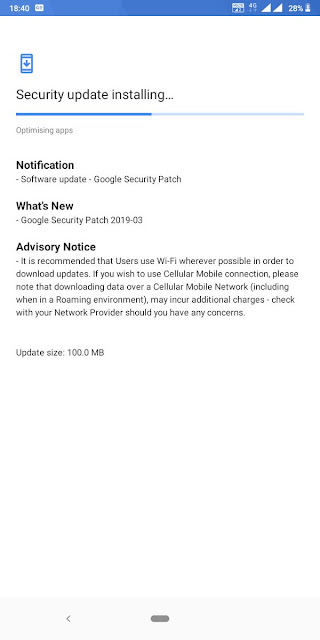 Nokia 3.1 Plus receiving March 2019 Android Security update