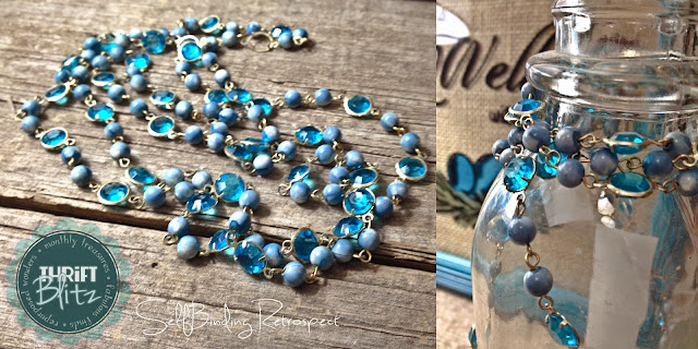 long blue bead necklace - Thrift Blitz Episode Four - SelfBinding Retrospect by Alanna Rusnak