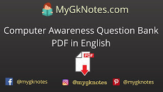 Computer Awareness Question Bank PDF in English