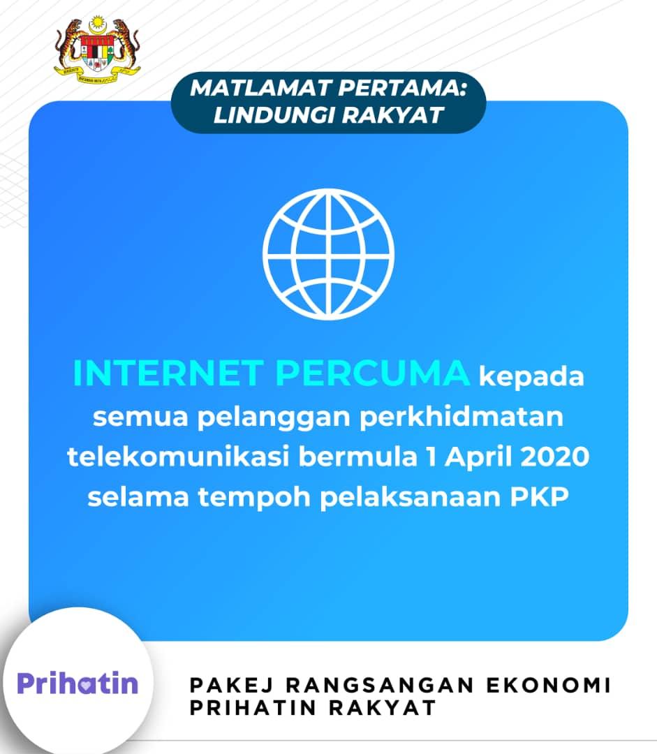Pakej Ransangan Ekonomi Prihatin Rakyat (PRIHATIN) | Data internet 1GB percuma sepanjang PKP