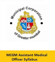MCGM Assistant Medical Officer Syllabus