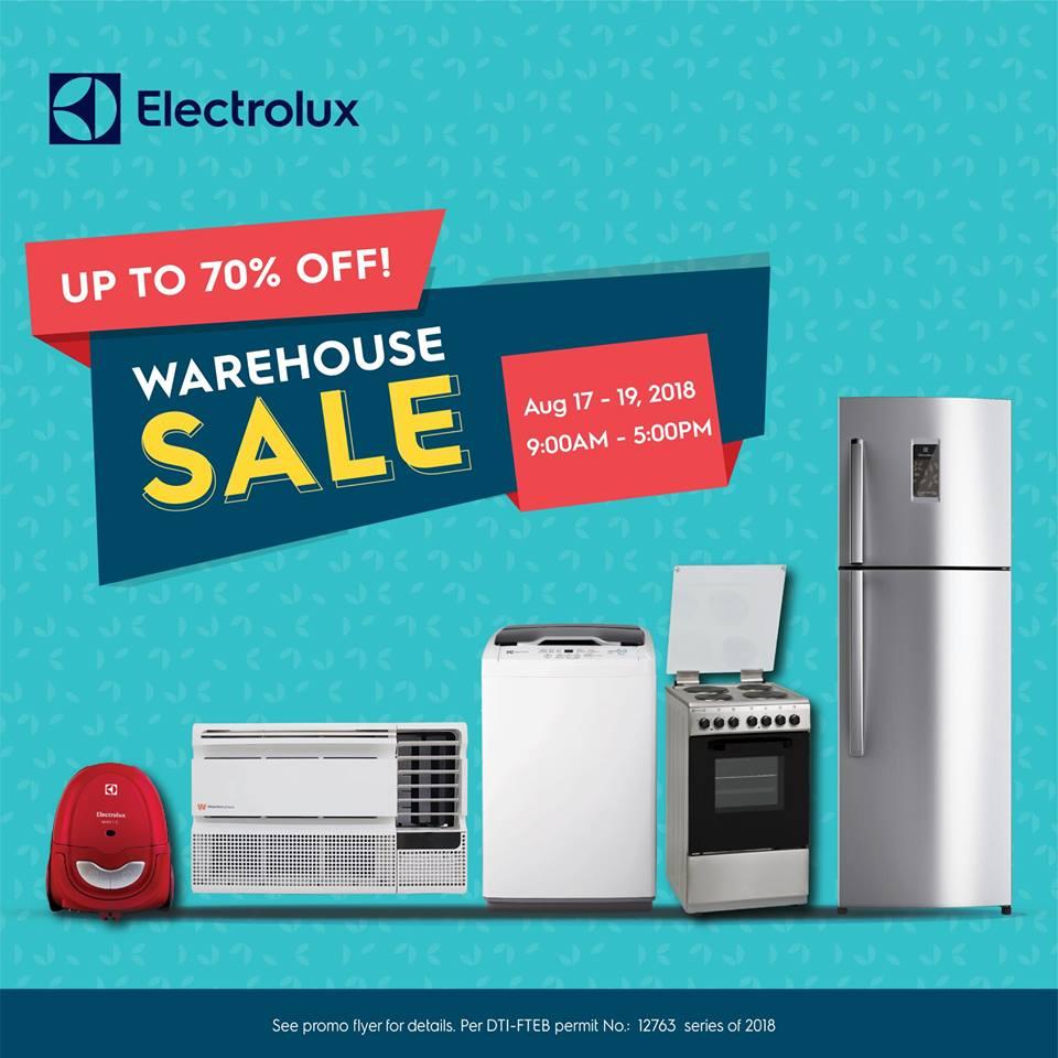 Manila Shopper: Electrolux Warehouse SALE: August 2018