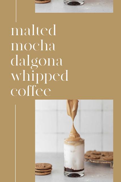 malted mocha dalgona coffee