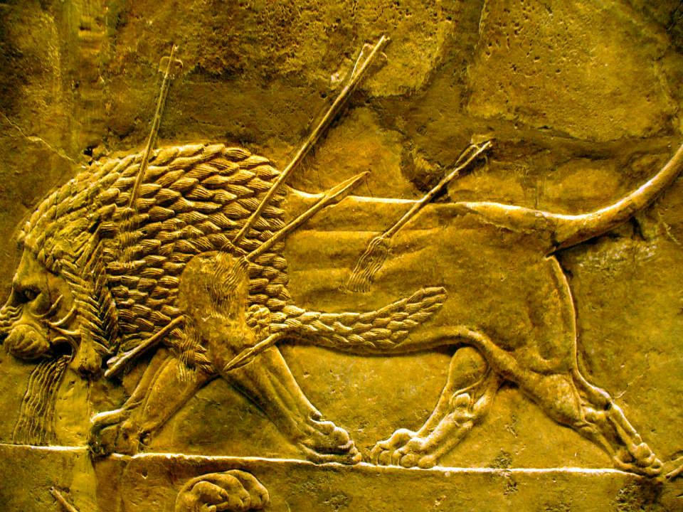 ASSYRIA - FROM NINEVEH, NORTH and SOUTH PALACE / BRITISH MUSEUM