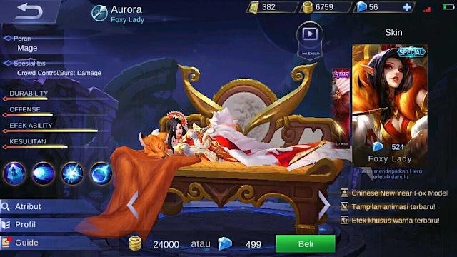 Gear Dan Build Hero Aurora Terbaik Full Damage Terbaru Mobile Legend Indonesia