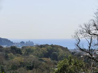 源氏山公園からの相模湾