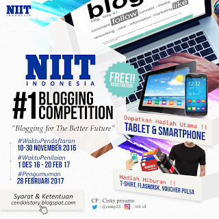 Lomba Blog NIIT Indonesia Hadiah 2 Buah Gadget November 2016