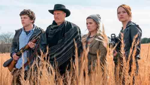 Jesse Eisenberg, Woody Harrelson, Abigail Breslin dan Emma Stone di 'Zombieland: Double Tap'Photo courtesy CNN.COM