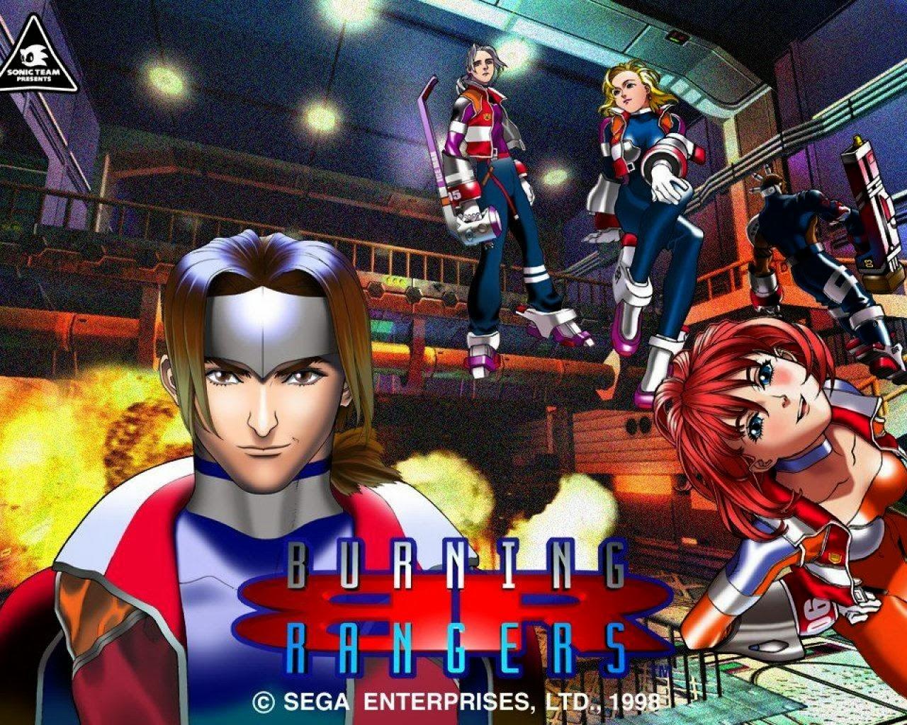 Burning Rangers cover per Sega Saturn