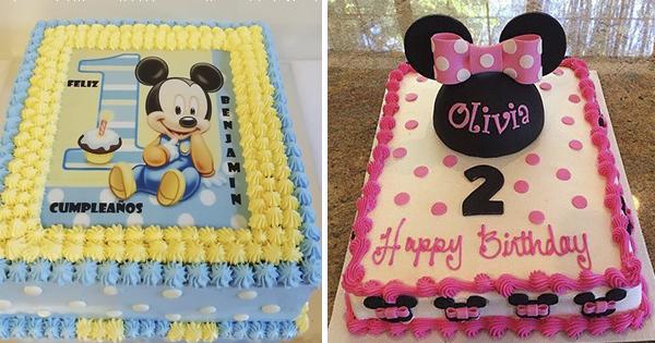 🎂 Mickey Vs Minnie: Ideas de Tartas Rectangulares