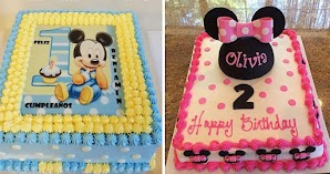 Mickey Vs Minnie: Ideas de Tartas Rectangulares