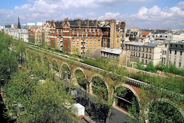 Promenade Plantée no bairro Bastille