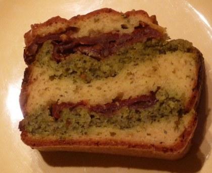 Summer pesto cake
