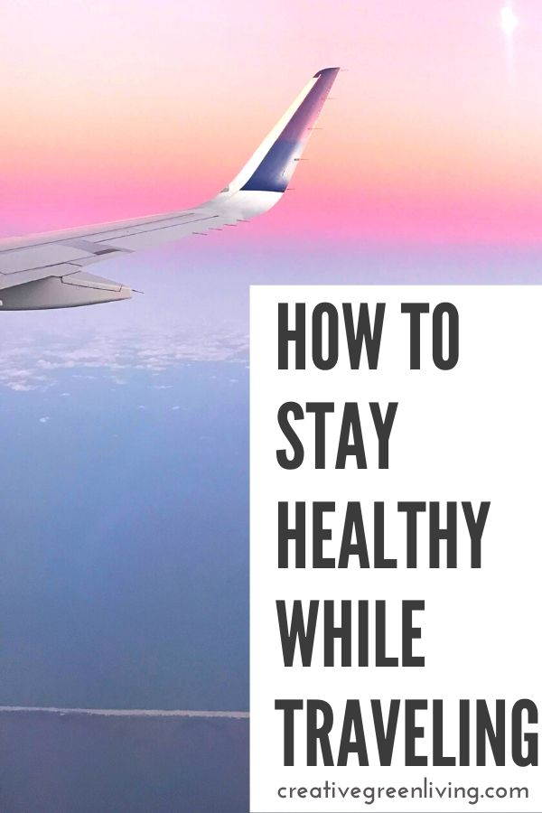 Top tips for staying healthy while traveling! From avoiding germs during flu season, to bringing your own filtering water bottle and snacks to thinking ahead with homeopathic remedies that work - we'll help you avoid getting sick while flying or travling by train this winter. Sponsored by media partner, Boiron. #creativegreenliving #oscillo2go