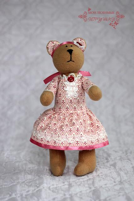 мишка,  текстильная игрушка