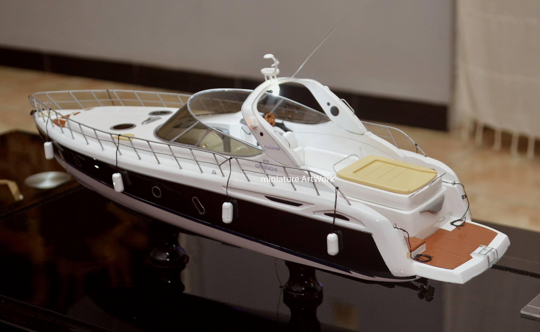 desain sketsa miniatur kapal yacht cranchi 41 endurance rumpun artwork temanggung planet kapal indonesia terbaik