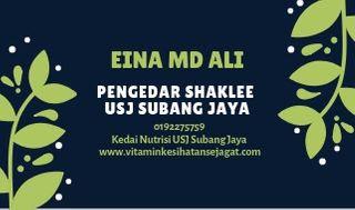 Eina Md Ali - Pengedar Shaklee USJ Subang Jaya