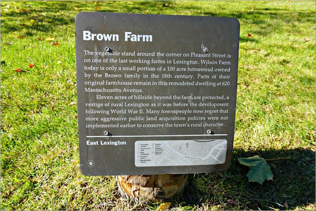 Placa de la Brown Farm, Lexington
