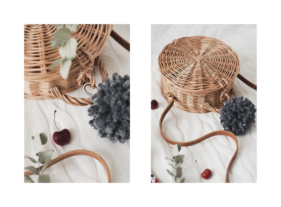 DIY handmade torebka okrągła koszyczek
