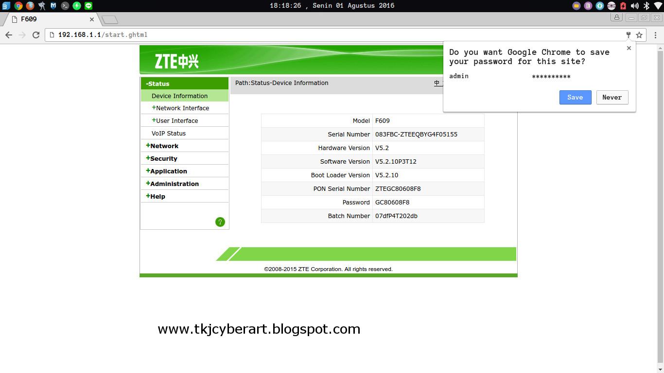 Terrence, Glad cara reset password zte f609 molecules