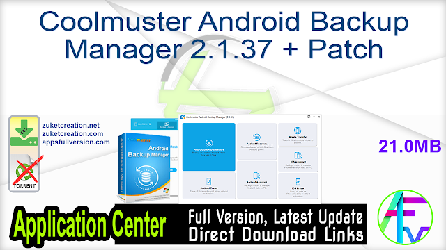 Coolmuster Android Backup Manager 2.1.37 + Patch