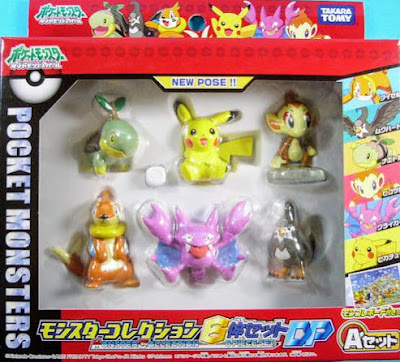 Turtwig figure Takara Tomy Monster Collection DP 6pcs figures set