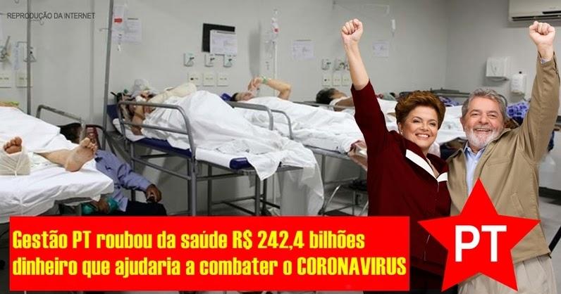 R$ 242,4 bilhões é o valor do desvio de verbas da Saúde na gestão ...
