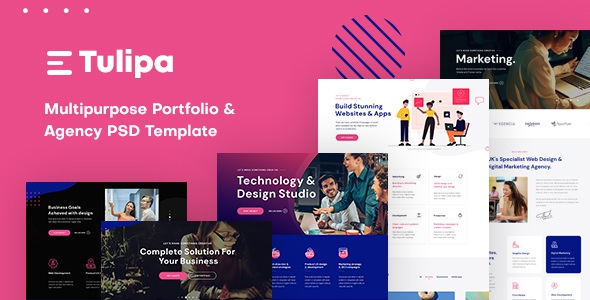 Best Multipurpose Portfolio & Agency PSD Template