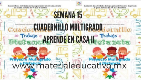 Cuadernillo De Actividades Multigrado Semana 15