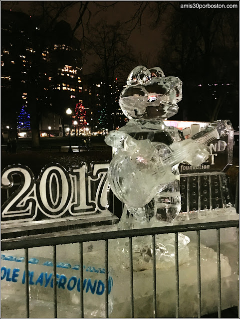 Escultura de Hielo en el Boston Common