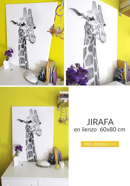 cuadro jirafa