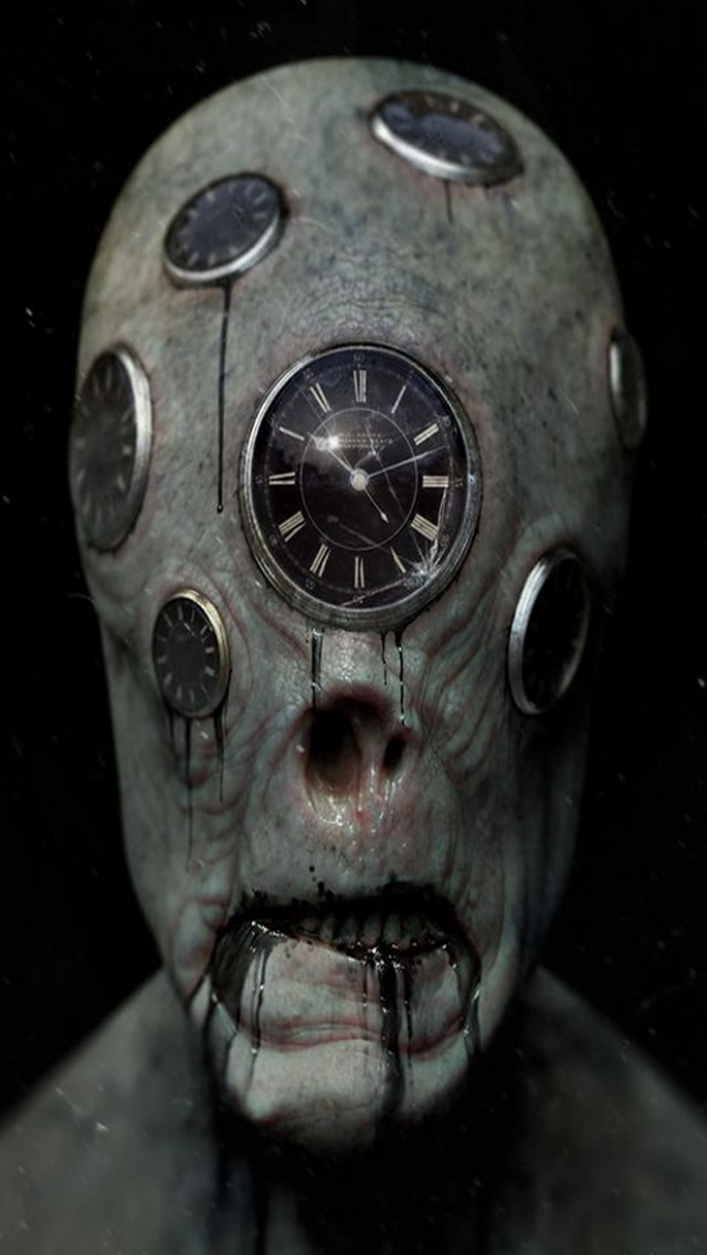 Wallpaper Horror, orologi,