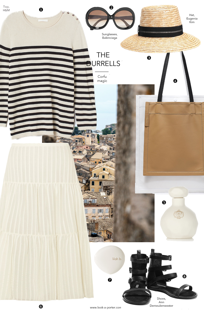 An outfit inspired by The Durrells movie series created with stylish wardrobe essentials and styled with See by Chloe, H&M, Ann Demeulemeester, Eugenia Kim, Balenciaga and more for look-a-porter.com fashion blog