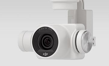 Kamera Dji Phantom 4 4K video capture pada 30 frame per detik dan Full HD 1080p pada 120 frame per detik untuk slow motion yang halus