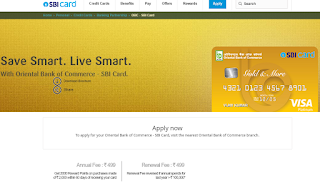 How to Apply SBI Credit Card Online, Oriental Bank of Commerce - SBI Card