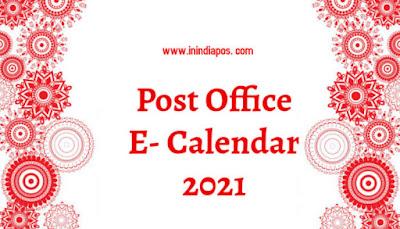 Post Office E- calendar 2021