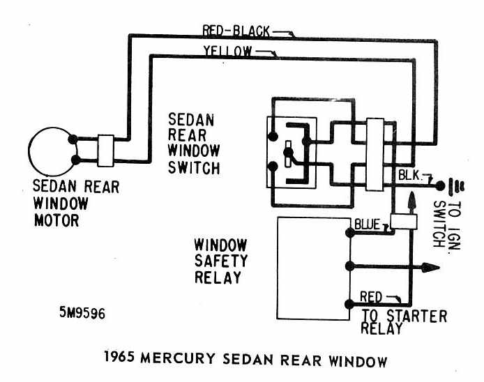 mercury sedan 1965 rear window wiring diagram