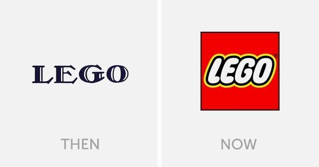 logo lego dulu dan sekarang