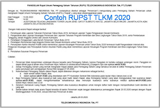 Contoh RUPST TLKM 2020
