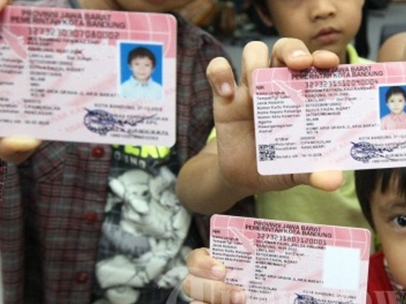 Cara pembuatan Kartu identitas Anak