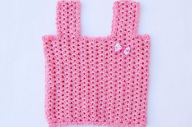 5 - Crochet Camiseta de tirantes a crochet sencilla y fresca por Majovel Crochet