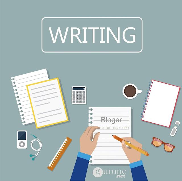 """Menulis artikel di blog merupakan ungkapan pendapat lewat tulisan. Beberapa tahun ini guru dituntut tidak hanya mahir dalam mengajar saja. Akan tetapi untuk untuk menunjang karirnya gurupun dituntut untuk bisa menulis.    Salah satu latihan menulis untuk yang tidak terbiasa adalah dengan belajar menulis di blog.    Secara resmi memang kita sebagai seorang guru untuk bisa menulis secara ilmiah tentang temuan kita saat mengajar, ide kita untuk pendidikan dan apapun yang terkait dengan tupoksi kita sebagai seorang guru.    Tapi itu akan terlihat sulit jika pembiasaan menulis tidak ada dalam diri kita. Iya ga sob?  Mengapa harus media blog sebagi media untuk melatih menulis ? Pertanyaan yang bagus sob...  Gini sob gurune critakan alasanya.  Kita dituntut untuk bisa membuat publikasi ilmiah melalui media masa salah satunya lewat artikel kita. Iya ga?    Pasti diluaran sana banyak guru yang tidak percaya diri akan kemampuan menulisnya.     Ada yang takut di tolak, ada yang takut salah, bahkan banyak yang tidak minat sebab tidak terbiasa.    makanya sobat perlu belajar....    kalau belajar lewat blog milik sobat jelas tidak ada yang mengikat, struktur tulisanya mau pakai cara apa pun terserah sobat kan... iya ga?    mau pakai font size yang gede - gede semua juga terserah sobat.    Intinya lewat latihan dan pembiasaan menulis di blog sobat jadi bisa lebih """" Percaya Diri """".    Lho ya ga ada nilainya untuk pengembangan diri ?    Iya gurune tahu kalau menulis di media yang tidak ada standar ISBN memang tidak ada nilainya, tapi yang sedang gurune tekankan belajar menulisnya dulu....    Kalau sobat tidak mau belajar, hanya memikirkan nilai-dan nilai dan ini itulah tanpa ada tindakan sama juga kan tidak dapat nilai...    Maka dari itu, belajar menulis artikel di blog terkait dunia pendidikan buat sobat guru itu sangat membantu.    jangan pikirkan nilai untuk pengembangan diri dulu    Fokus dulu pada tahap belajar.    gurune mengakui kalau kualitas tulisan di blog ini masih acak """
