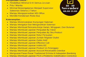 Lowongan Kerja Supervisor Sales TO Sasana Megah Agung