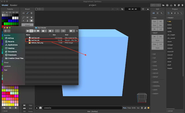 How to Import OBJ file into MagicaVoxel