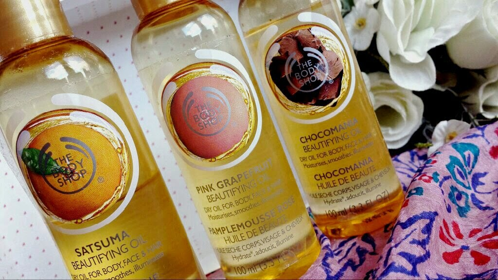 The Body Shop Beautifying Oils Satsuma Grapefruit Chocolate