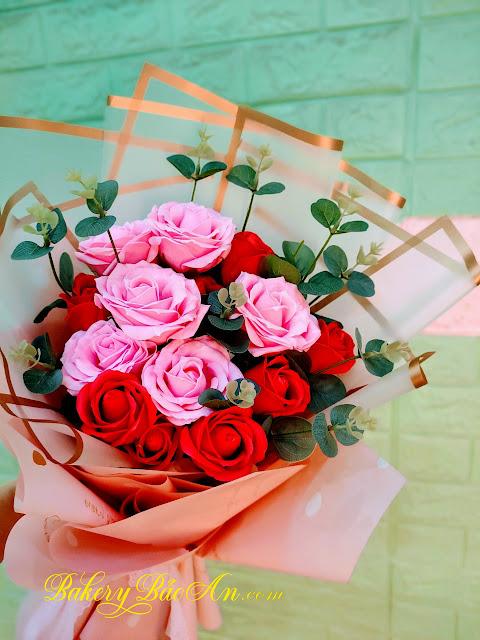 Hoa Sáp Phối Màu Đỏ, Hồng
